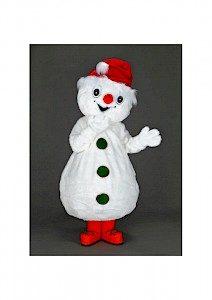 Location mascotte bonhomme de neige en peluche