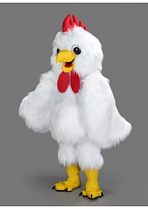 Location mascotte Poule blanche