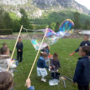 animation bulles de savon géantes